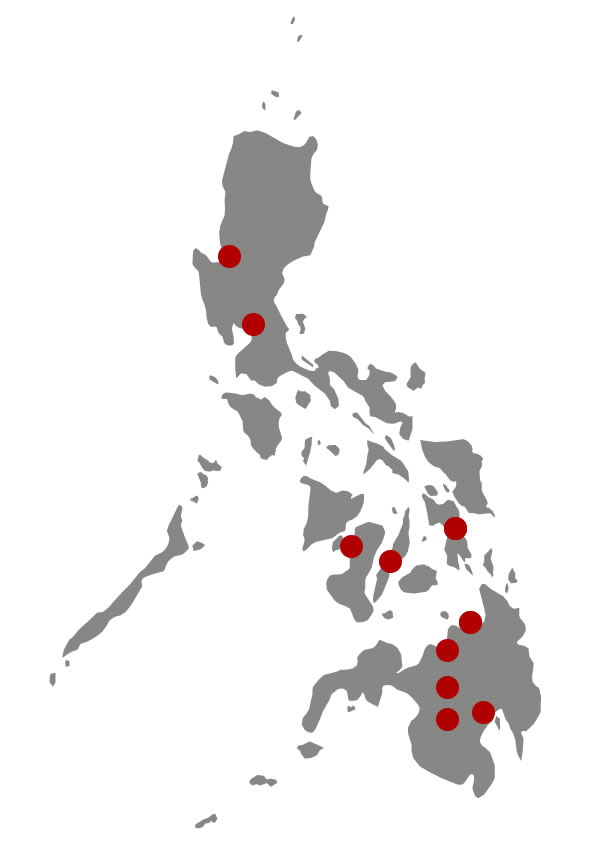 Map of Philippine Congregations